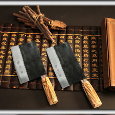 X1 Handmade Carbon Steel Cutter kitchen knife slicer home cooking chopper tool