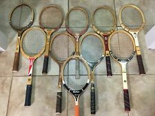 (Lot of 10) Vintage Wood Tennis Racquets (All Have Strings) Nice Lot
