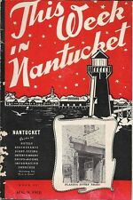 1948 NANTUCKET Weekly Entertainment Travel Guide Hotels Restaurants Map Shops