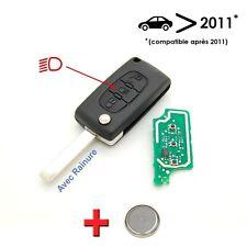 Clé électronique à programmer Peugeot 207 307 308 3 bouton avec rainure 2011+