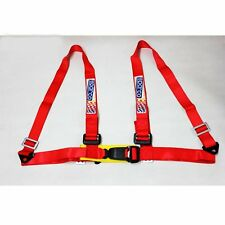 Nylon Sparco 4-Point 2 Inch 4pt Seat Belt SEAT BELT Harness & Buckle Red