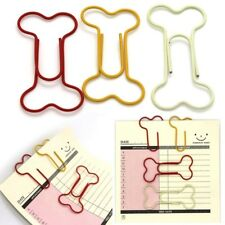 24X Bookmark Art Projects Metal Paper Clips Dog Bone Shaped Clamps School Use