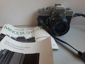 Minolta SRT 303 mit MC W Rokkor -SI, 1: 2,8