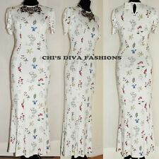 """ASOS Floral Maxi Tea Summer Dress Sizes UK 8-18   Length:53"""" Approx."""