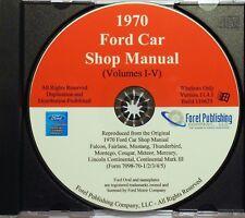 1970 Ford Shop Manual Vol I-V (CD-ROM)