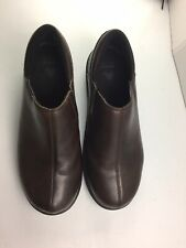 Crocs Work Shoes Leather 12936 Casual Slip On Shoe - Men's Size 11 Wide - Brown