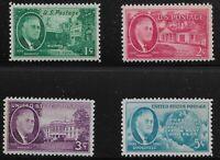 US Scott #930-33, Singles 1945 FDR Complete Set FVF MNH