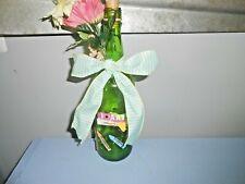 """Handmade Decorative Glass Led Lighted Wine Bottle """" I Love Art"""""""
