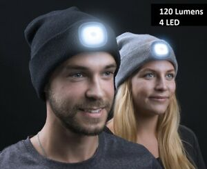 Winter Wear Unisex LED Beanie Hat Knitted Cap Battery Operated Head Lamp Light*