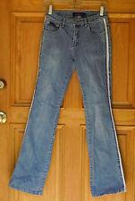 C'est toi Ladies Size 3 Low Rise Embellished Flare Blue Jeans
