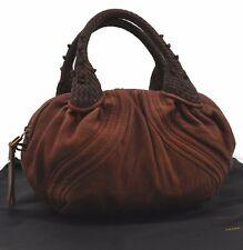 Authentic Fendi Spy Bag Hand Tasche Leder braun c4499