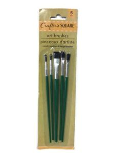 Crafter's Square 5 Pc Art Brushes Small Medium & Large Brushes.