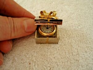 "Vintage 1996 CL-X15A Heavy Made Miniature Present Type Of Clock "" GREAT ITEM """