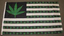 MARIJUANA USA FLAG 3'X5' GREEN WEED POT LEAF BUD HASH MARY JANE 3X5 FEET F994