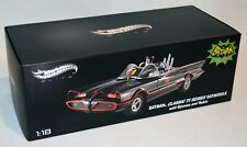 NEW Batmobile Hot Wheels Elite 1/18 Diecast 1966 w/ Batman & Robin BCJ95, Rare