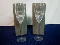 Waterford Crystal Champagne Toasting Flutes. Aurora. 2004-12. Ireland. NEW.
