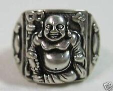 Chinese tibet silver laughing Buddha ring