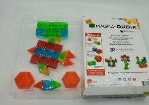 MAGNA-QUBIX 29pc Set Open Box Complete 18029 Magna-Tiles Family