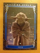 2015 Topps Star Wars Masterwork Defining Moments DM-6 Yoda