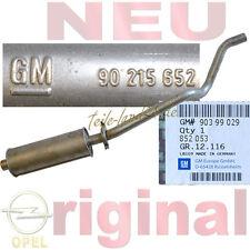 NEU Orig GM Mittelschalldämpfer Opel Kadett E CC cabrio nur ohne Katalysator