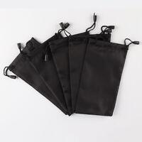 2Pcs Black Cloth Soft Lanyard Eyeglasses Pouch Glasses Sunglasses Bag Optical
