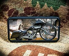 Harley RoadGlide  Gunmetal iPhone 5C through 7S+Samsung Galaxy S5,S6 or S7 phone