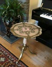 VINTAGE TRADE MARK MADE ITALY Wood Gold Deco Tea/Coffee Table Sofa Side