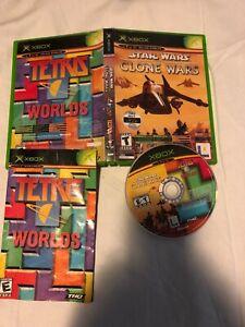 Star Wars Clone Wars Tetris Worlds Microsoft Xbox Original Complete CIB