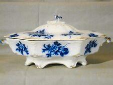 Art Nouveau Grindley Flow Blue Gironde Vegetable Tureen 1897