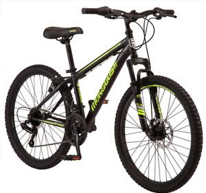 Front suspension Mongoose Excursion Mountain Bike, 24-inch wheel, 21 speeds