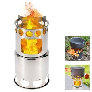 EDELSTAHL HOBO Ofen Kocher Holzbrennofen Holzofen Hobo Camping Mehrstoffkocher