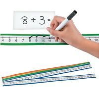 """0 to 30 Dry Erase Number Line Sheets  (36 Pack) 24"""" x 1 1/2"""".  Laminated Paper."""