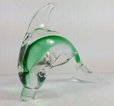 "RETRO VINTAGE 6"" MURANO STYLE STUDIO ART GLASS LEAPING DOLPHIN / FISH"