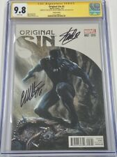 Original Sin 2 Black Panther 1:50 Variant Signed Stan Lee & Dell'Otto CGC 9.8 SS