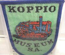 Koppio Museum S.A. cloth woven badge Vintage. Souvenirs Australia PTY LTD.