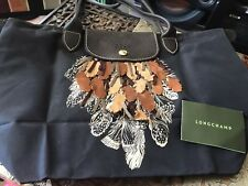 Long Champ La Pliage Feather Applique ToTe