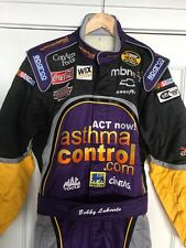 BOBBY LABONTE RACE WORN,RACE USED DRIVERS FIRE SUIT , FINAL MARK DOWN SALE!!