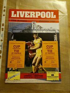 Liverpool v Brentford FAC 88-89 Football Programme & Ticket Stub
