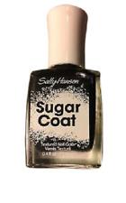 NEW! Sally Hansen Sugar Coat Textured Nail Polish Lacquer in LICK-O-RICH ~ Black