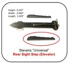 """New Replacement """"Universal"""" Rear Sight Elevator for Stevens Rifles Listed Below"""