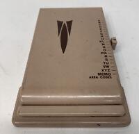 VINTAGE TELEPHONE INDEX ADDRESS PHONE BOOK METAL FLIP SLIDE ORGANIZER GALAXIE