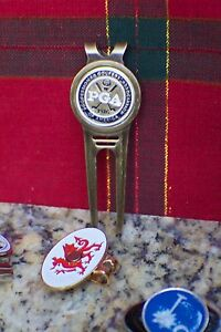 The PGA Divot Tool or The Masters with Black Trim Ball Marker & Divot Tool