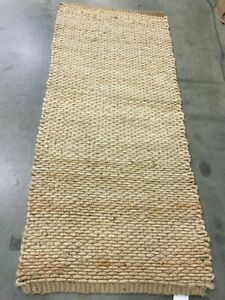 """NATURAL 2'-6"""" X 6' Loose Threads Rug, Reduced Price 1172629866 NF459A-26"""
