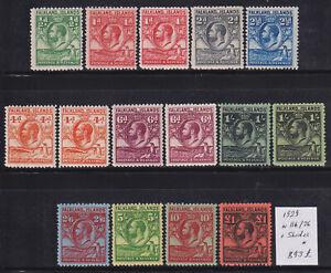 Falkland 1929. GV Compl set + All Shades #116/26 - 893 GBP MH*. Scarce & Rare!