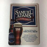 4 Samuel Sam Adams Boston Lager Beer Bar Coasters NEW Mancave Glass