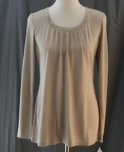 Liz Claiborne, Medium (MT) Simply Taupe Long Sleeve Knit Top, New with Tags