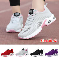 Women Air Cushion Sports Shoes Mesh Breathable Tennis Athletic Running Sneakers