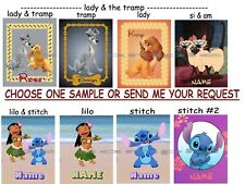 PERSONALIZED Disney Character - (L-P) - Fridge or Cruise Magnet (great Fish Ext)