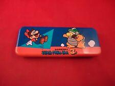 Super Mario Bros. 3 Nintendo NES Era 1988 Pencil Case VERY RARE School Supply