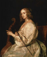 Oil painting Anthony van Dyck - Portrait of Mary Ruthven, wife of the artist